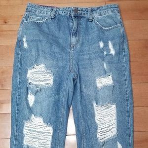 Cello hi rise distressed jeans